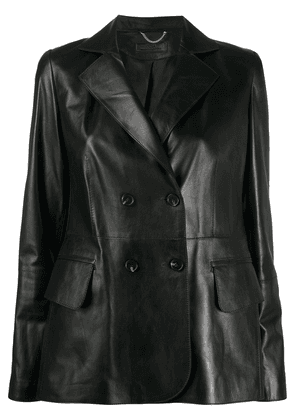 Desa 1972 leather double breasted jacket - Black
