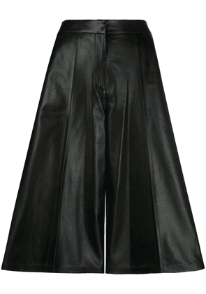 Desa 1972 leather cropped palazzo trousers - Black
