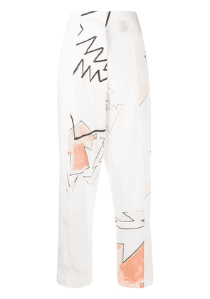 Each X Other x Austyn high-waisted trousers - White