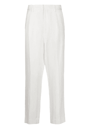 Ann Demeulemeester cropped tailored trousers - White