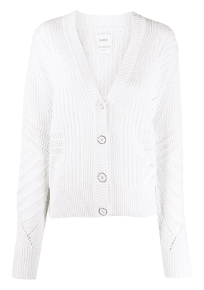 Barrie cable knit cardigan - White