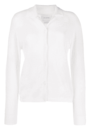Barrie thistle intarsia cardigan - White