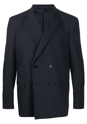 Valentino double-breasted cotton blazer - Blue