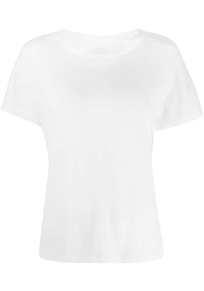 Barrie fine knit T-shirt - White
