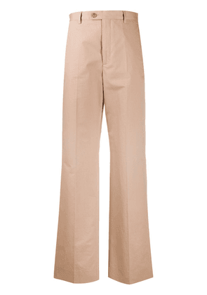 Maison Margiela high-waisted flared trousers - NEUTRALS