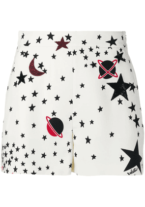 Valentino Optical Cosmo sequinned shorts - White