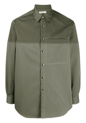 Valentino two-tone buttoned shirt - Green
