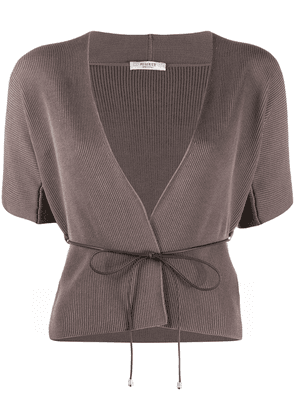 Peserico Maglia belted cardigan - Brown