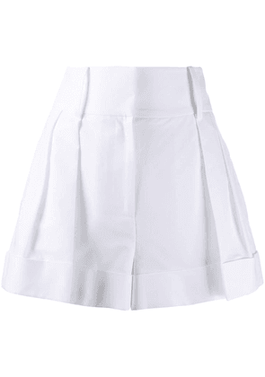 Valentino high-waisted darted shorts - White