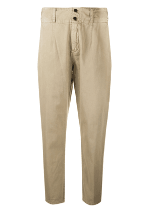 Current/Elliott high waisted cropped trousers - Yellow