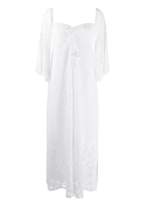 Anjuna broderie anglaise maxi dress - White
