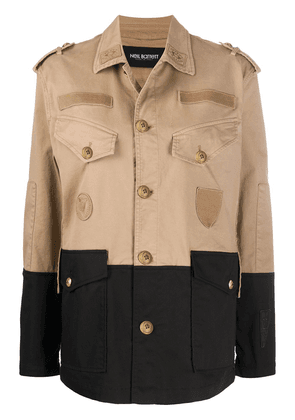 Neil Barrett pocket detail military jacket - NEUTRALS