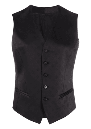 Neil Barrett diamond patterned waistcoat - Black