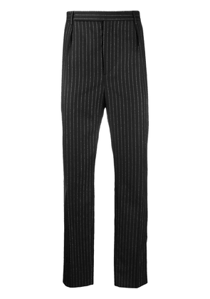 Saint Laurent metallic stripes tailored trousers - Black