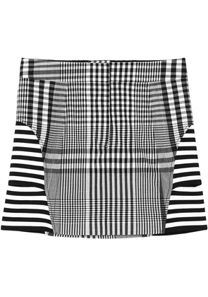 Burberry stripe and check technical mini skirt - Black
