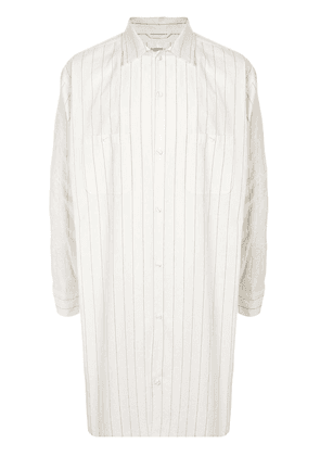 Doublet Chaos oversized striped shirt - White