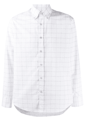 Canali checked cotton shirt - White