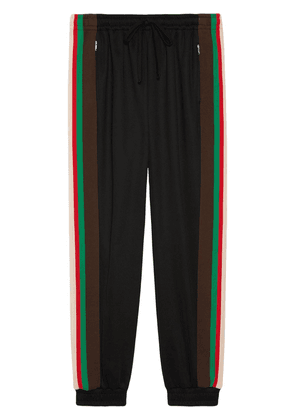 Gucci stripe panel track pants - Black