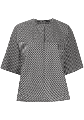 Sofie D'hoore Banpo checked cotton blouse - Black
