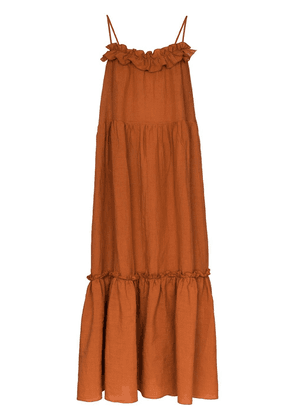 Araks Yasmin tiered maxi dress - Brown