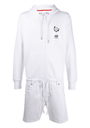 Diesel Upcycled combined jumpsuit - White