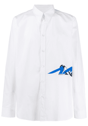 Givenchy side logo buttoned shirt - White
