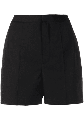 Saint Laurent high-waist tuxedo short shorts - Black