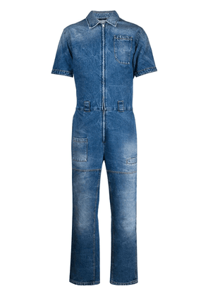 Fendi workwear denim overall - Blue