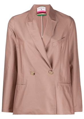 Danielapi double-breasted fitted blazer - PINK