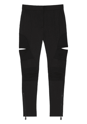 Burberry cut-out detail skinny-fit trousers - Black
