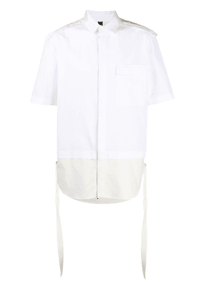 Diesel Black Gold quilted zipped shirt - White