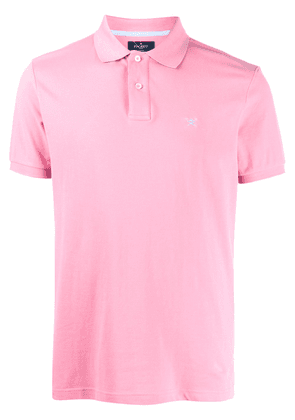 Hackett logo embroidered polo shirt - PINK
