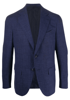Caruso single-breasted fitted blazer - Blue