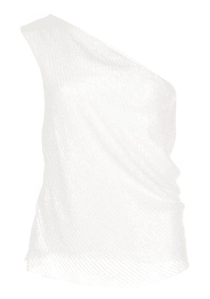 Cushnie silk one-shoulder fitted top - White