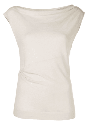 Co gathered jersey top - White
