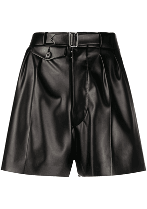 Maison Margiela high-waisted belted shorts - Black