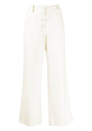 Derek Lam 10 Crosby Ema drape culotte with tuxedo stripe - White