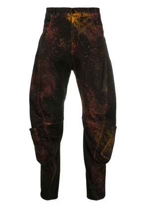 Diesel Black Gold abstract-print tapered jeans