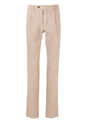 Gabriele Pasini checked tailored trousers - NEUTRALS