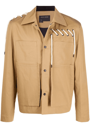 Craig Green laced-detail field jacket - Brown