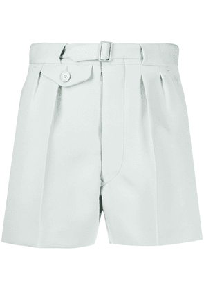 Maison Margiela belted cotton shorts - Blue