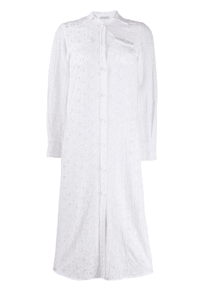 Anjuna broderie anglaise midi dress - White