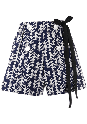 Prada all over print shorts - Blue