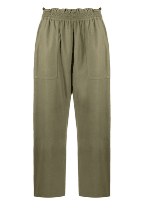 Drome cropped high-waisted trousers - Green