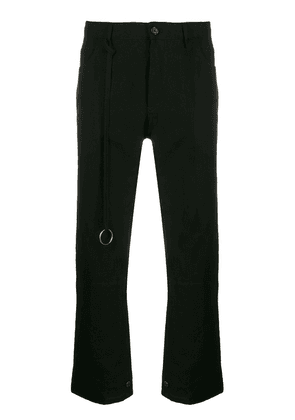 Ann Demeulemeester cropped flared trousers - Black