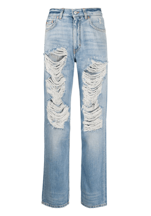 Givenchy distressed straight-leg jeans - Blue