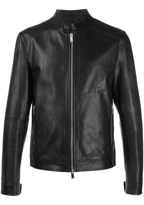 Desa 1972 fitted leather jacket - Black
