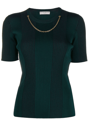 Givenchy chain detail knitted top - Green