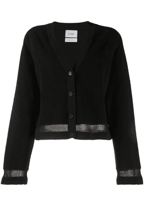 Barrie terrycloth cropped cardigan - Black