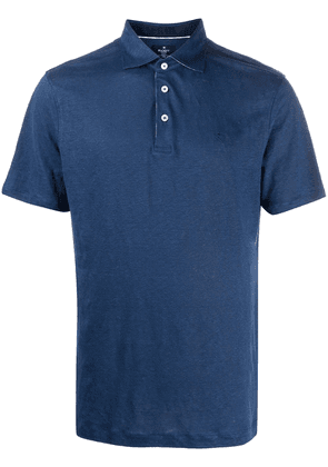 Hackett embroidered logo polo shirt - Blue